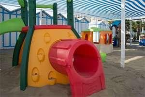 Spiaggia 54 Riccione - area giochi miniclub e animazione