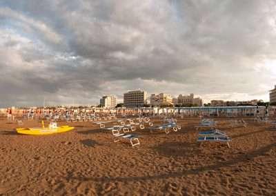 Spiaggia 54 Riccione - Panoramica della spiaggia