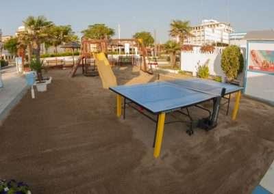 Spiaggia 54 Riccione - Il tavolo ping pong.