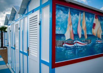 Spiaggia 54 Riccione - Dipinto a mano del porto di Riccione