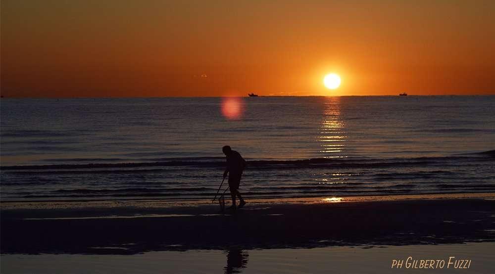spiaggia alba a Riccione